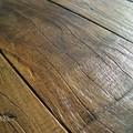 Pavimentazione in assi di legno vecchio