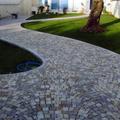 pavimento in mrmo di apricena e pietra di fasano