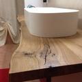 Piano del bagno in legno naturale