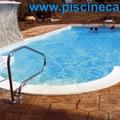 PISCINA A SKIMMER, SCALA ROMANA + IDROMASSAGGIO + CASCATA