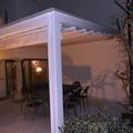 Pompeiana con copertura in policarbonato e tenda a onde