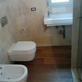 realizzazione bagno con parquet