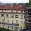 Risultato finale della ristrutturazione di tetto e facciata, primo blocco , di un edificio storico in centro a Torino.