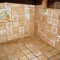 rivestimento piano cucina in muratura
