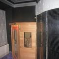 Sauna a stufa con pietre laviche