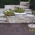 Scala in pietra di Luserna spaccata lavorazione a secco