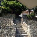 Scala in pietre ciotoli