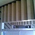 scale in marmo biancone - grigio imperiale