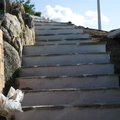 scalinata con basolato