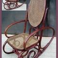 Sedia dondolo Vintage