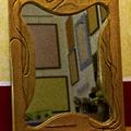 specchio artigianale in legno