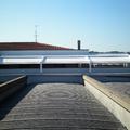 Struttura IRIDIUM in alluminio con tenda a 4 guide ad impacchettamento BY CORRADI