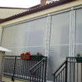 Tenda veranda invernale con tessuto VINITEX antingiallimento www.mftendedasoletorino.it