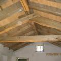 Tetto in legno di castagno