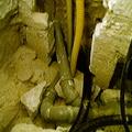 tubazione convoglio vasca fogna con  pompa aspirante