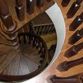 Visuale dall'alto scala a chiocciola Tonda