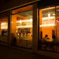 WINE BAR: vista serale dall'esterno