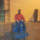 Monospazzola con uomo a bordo per lavaggio pavimenti capannoni e fabbriche