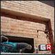 Demolizione muratura per montaggio cerchiatura metallica