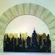 Arco con pannelli di legno sagomati a mano