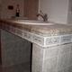 bagno lavandino in muratura
