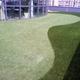campo da golf in erba sintetica su terrazzo