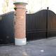 cancello carraio e pedonale in ferro battuto