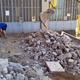 demolizione per fognature nuove  nel palazzo