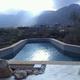 piscina costruita a sbalzo,notevoli carichi statici e dinamici
