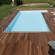 Piscina interrata con deking
