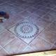 Pavimento decorato a 45 Gradi