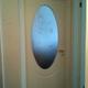 porta pantografata in legno laccata bianco opaco