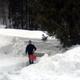 Pulizia di vialetti dalla neve
