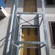 Realizzazione di vano ascensore e montaggio struttura.