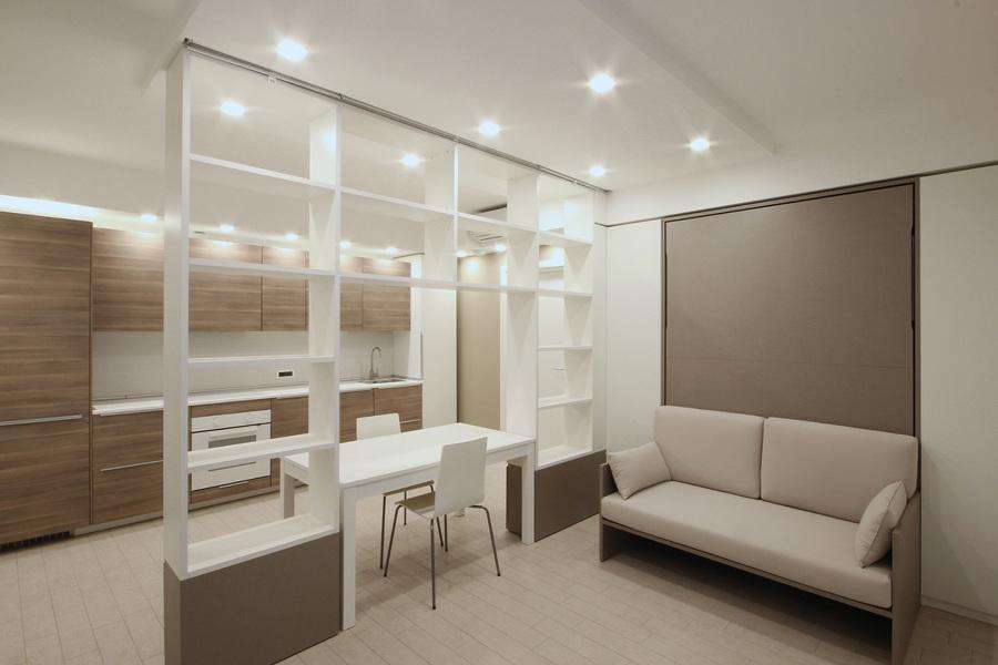 Foto arredamento di design per un monolocale a milano di for Arredamento per monolocale