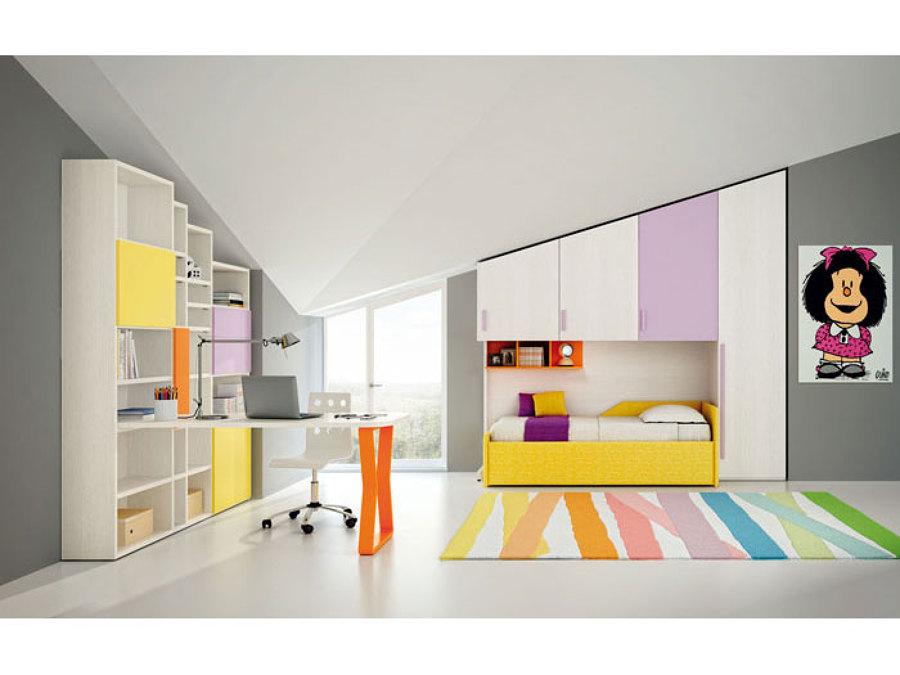 Cameretta su misura, disponibile con infinite composizioni e colori