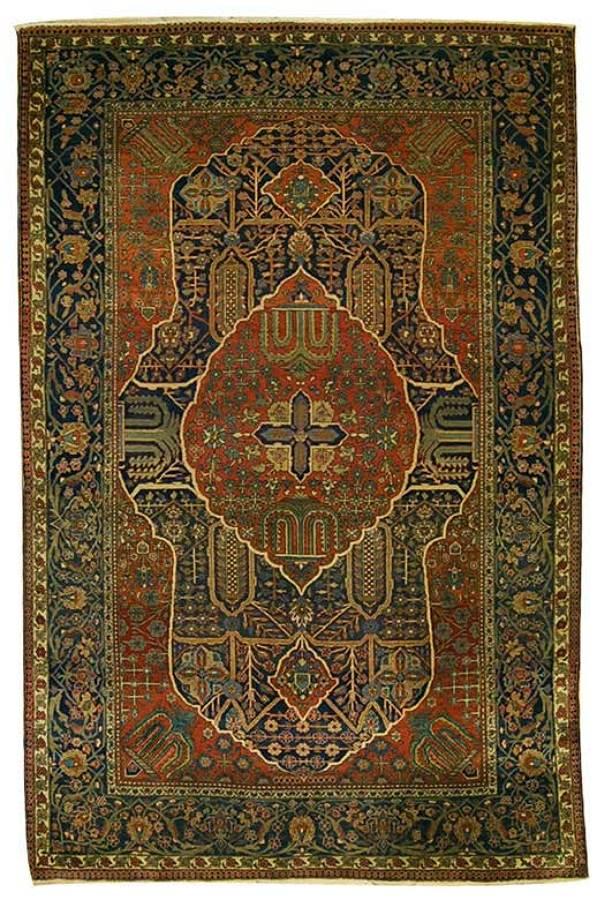 1967- Antico tappeto Kashan Keshan Mohteshem 205x135 cm