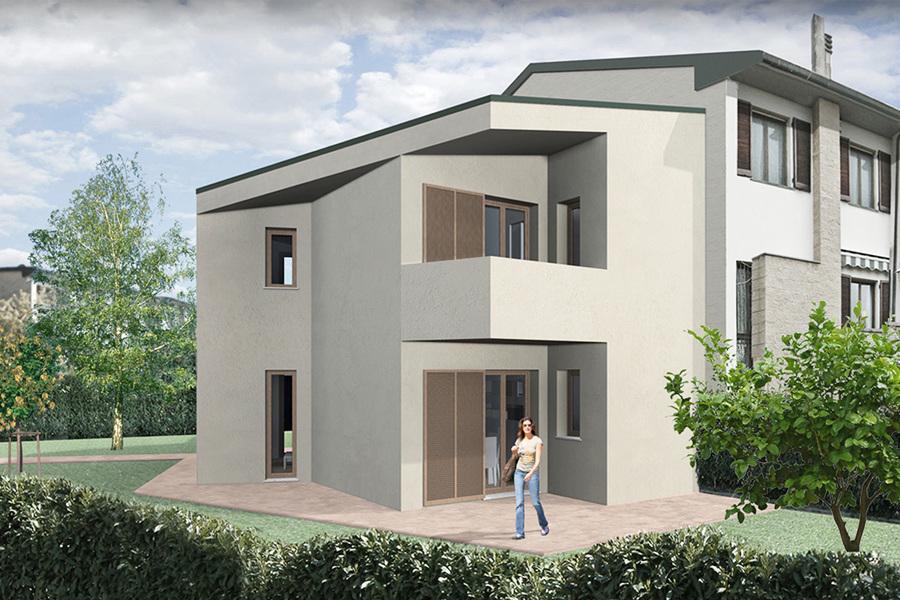 Foto progetto ampliamento villetta a schiera di testa di jfd juri favilli design 580466 - Casa a schiera progetto ...