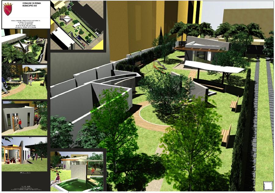 Casa Con Giardino Ostia Lido : Foto  locale ristoro con giardino pubblico e