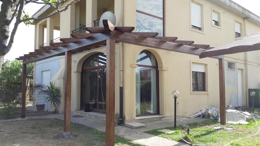 Pergolato in legno, struttura