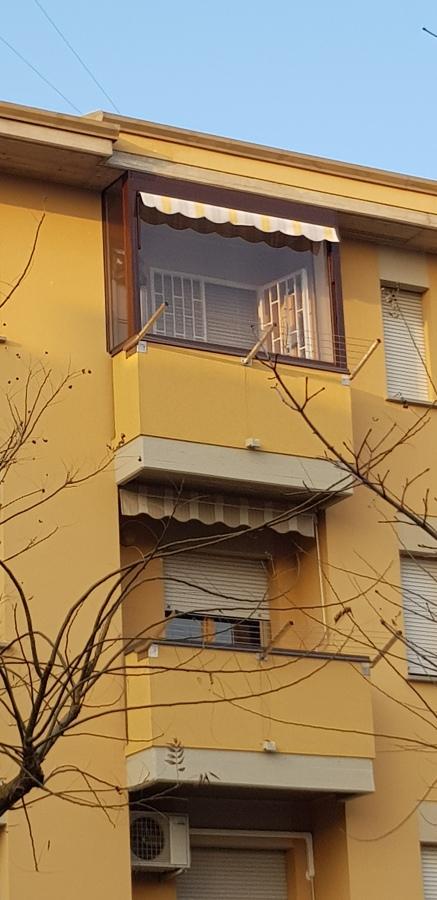 Tenda duetto per chiusura balconi e terrazzi