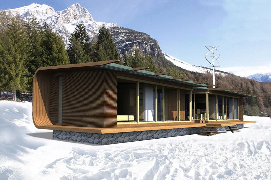 Foto una casa passiva prefabbricata per le vacanze di jfd juri favilli design 580478 - Casa passiva prefabbricata ...