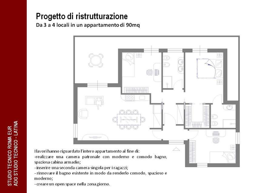 Foto progetto di ristrutturazione da 3 a 4 locali parte for Centro divani olbia