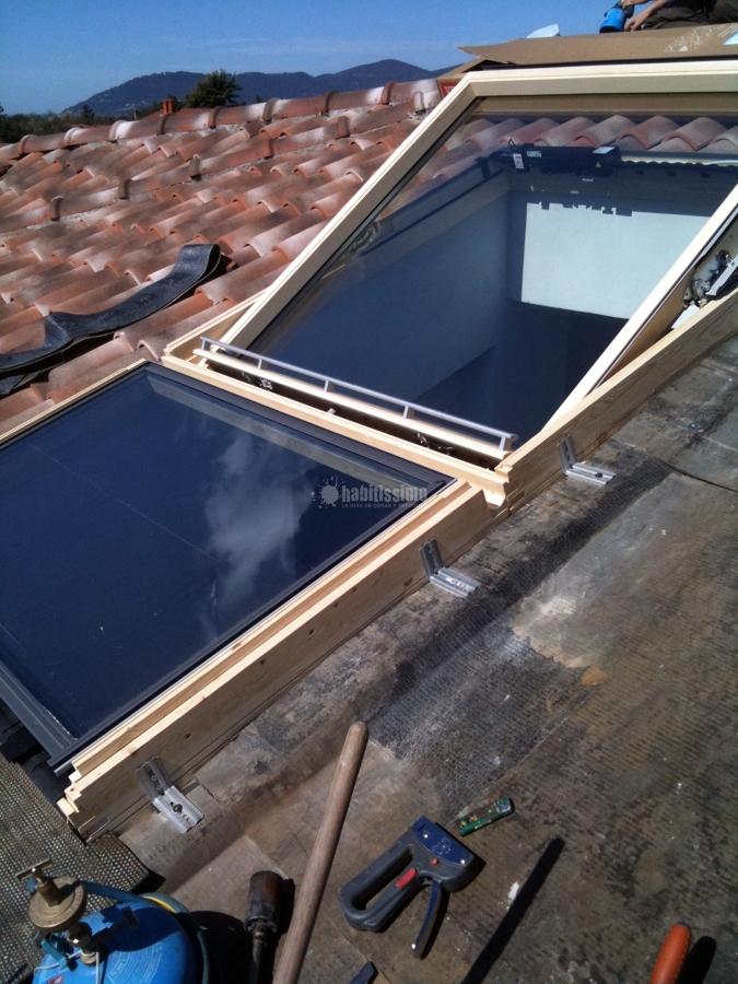 Foto infissi legno tunnel solare velux lucernari velux for Velux lucernari