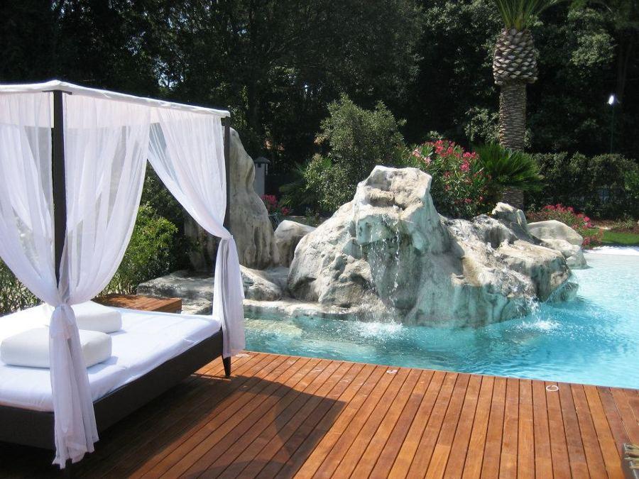 Particolare realizzazione piscina