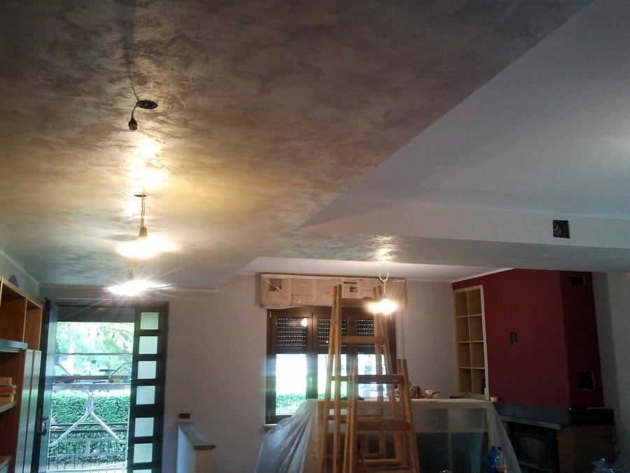 Foto abbassamento decorato in cartongesso de ab color di - Abbassamento del tetto in cartongesso ...