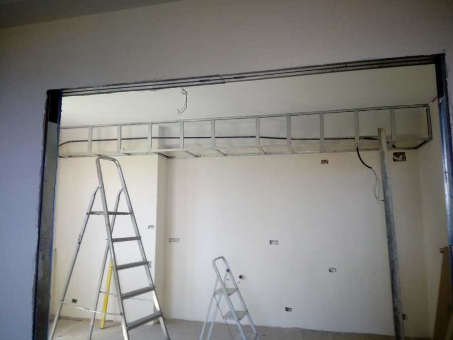 Realizzazione struttura per cappa cucina