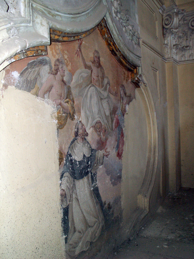 Affresco chiesa Santa Maria del SS. Rosario prima del restauro