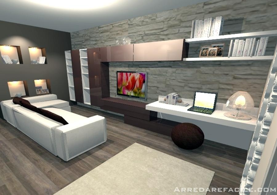 Foto angolo studio in salotto di arredarefacile 109909 for Foto salotto