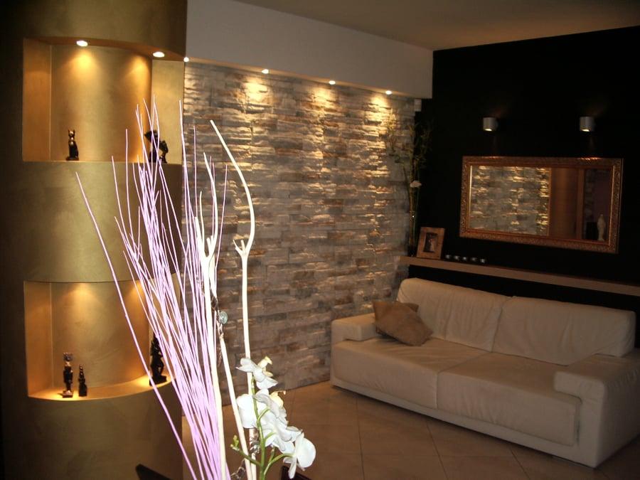 Foto decorazioni soggiorno sig anna de bruno veronese - Interni rustici ...